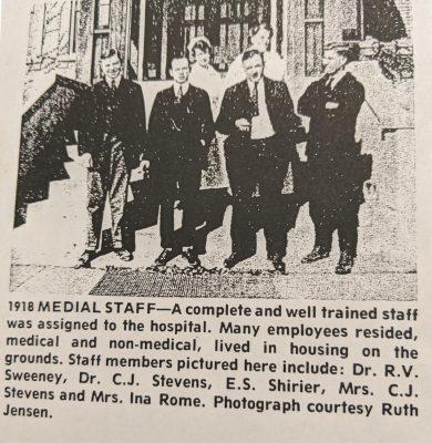 Part of the Sanatorium medical staff in 1918