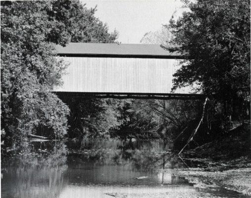State Sanatorium Covered Bridge from creek level