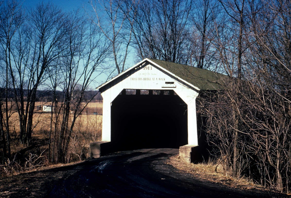 The State Sanatorium Covered Bridge in it's original location