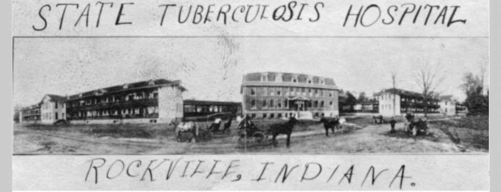 Vintage Postcard of the State Tuberculosis Hospital