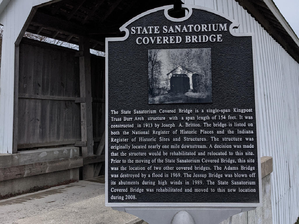 Sign by State Sanatorium Bridge